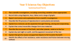 Science Key Objectives