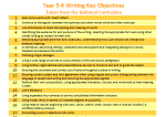 Writing Key Objectives